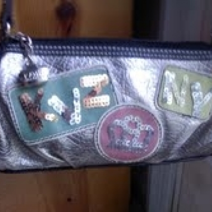 BRAND NEW WITH TAGS, KATHY ZEELAND LONG SHOULDER BAG W SEQUINS, PARIS COLLECTION, FREE SHIPPING!