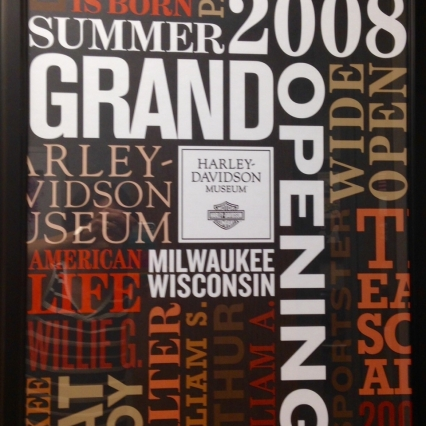 Harley-Davidson Museum Grand Opening Poster