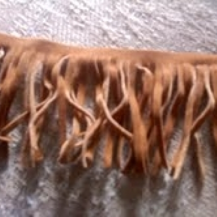 15 FEET REAL FLAWLESS SUEDE FRINGE, FLAWLESS, FREE SHIPPING