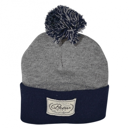 Brew City Label Knit Hat