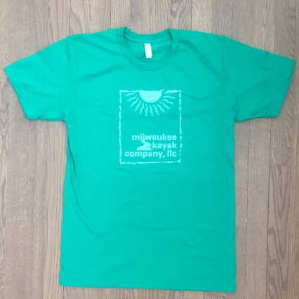 KELLY GREEN tshirt - Milwaukee Kayak Company