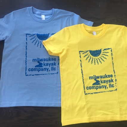 YOUTH BABY BLUE tshirt - Milwaukee Kayak Company