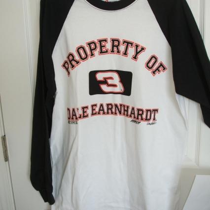 Dale earnhardt 3 white black 3 4 long sleeve large l for T shirt printing visalia ca