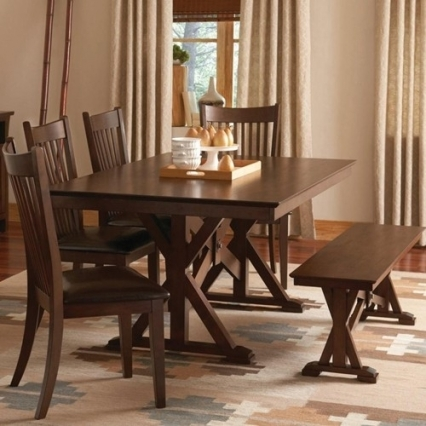 Alexandra 6 Piece Casual Dining Set with Bench