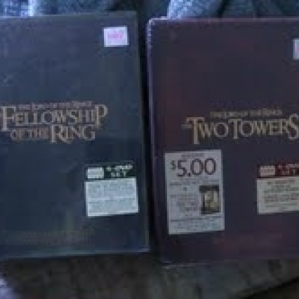 BRAND NEW THE LORD OF THE RINGS DVD SETS THE TWO TOWERS & THE FELLOWSHIP, FREE SHIPPING