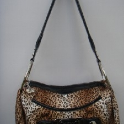 BRAND NEW GENUINE KATHY ZEELAND LEOPARD PURSE, WITH LONG LEOPARD GLOVES,FREE SHIPPING