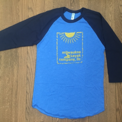 LAKE-BLUE 3/4 sleeve tshirt - Milwaukee Kayak Company