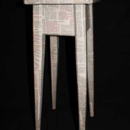 Newspaper clipping accent table
