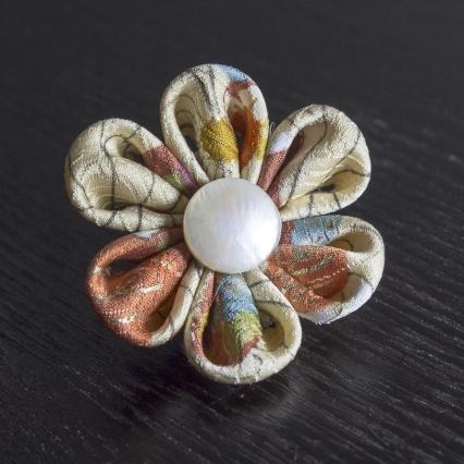 Vintage Silk w/Pearl Lapel Pin
