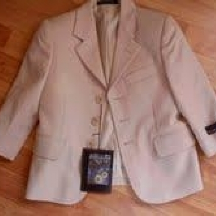 STANLEY BLACKER SIZE 4 BOYS KHAKI JACKET, NEW W TAGS, FLAWLESS, ADORABLE! ships free