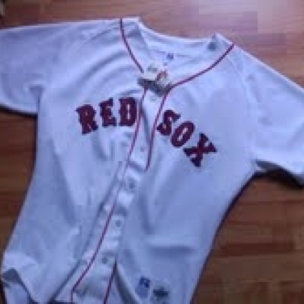 BRAND NEW WITH TAGS BOSTON RED SOX JERSEY, FLAWLESS, SIZE 48 FREE SHIPPING
