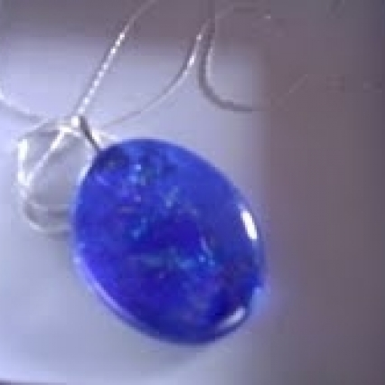 GENUINE LAMP GLASS 925 STERLING SILVER CHAIN! FREE SHIPPING!