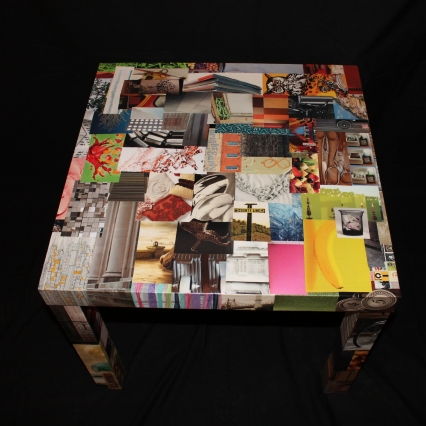 Magazine clip art side table