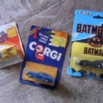 Vintage die cast metal model cars