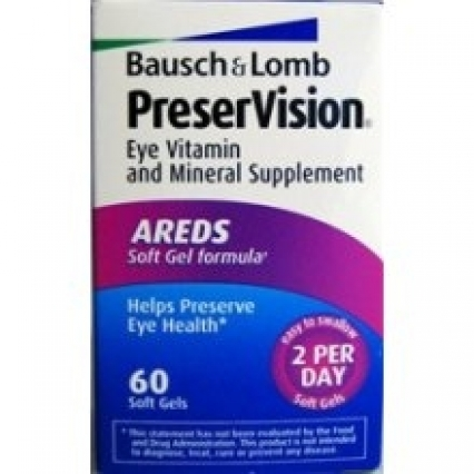 FRESH NEW BOTTLE OF 60 SOFT GELS, BAUSCH & LOMB PRESER VISION EYE VITAMIN, FREE SHIPPING