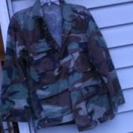 MILITARY JACKET SHIRT, SIZE SMALL ADULT, FREE SHIPPING!