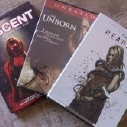 LOT OF 3 LIKE NEW MOVIES DVD'S HORROR, THE REAPER, UNFORN & THE DESCENT, FREE SHIPPING