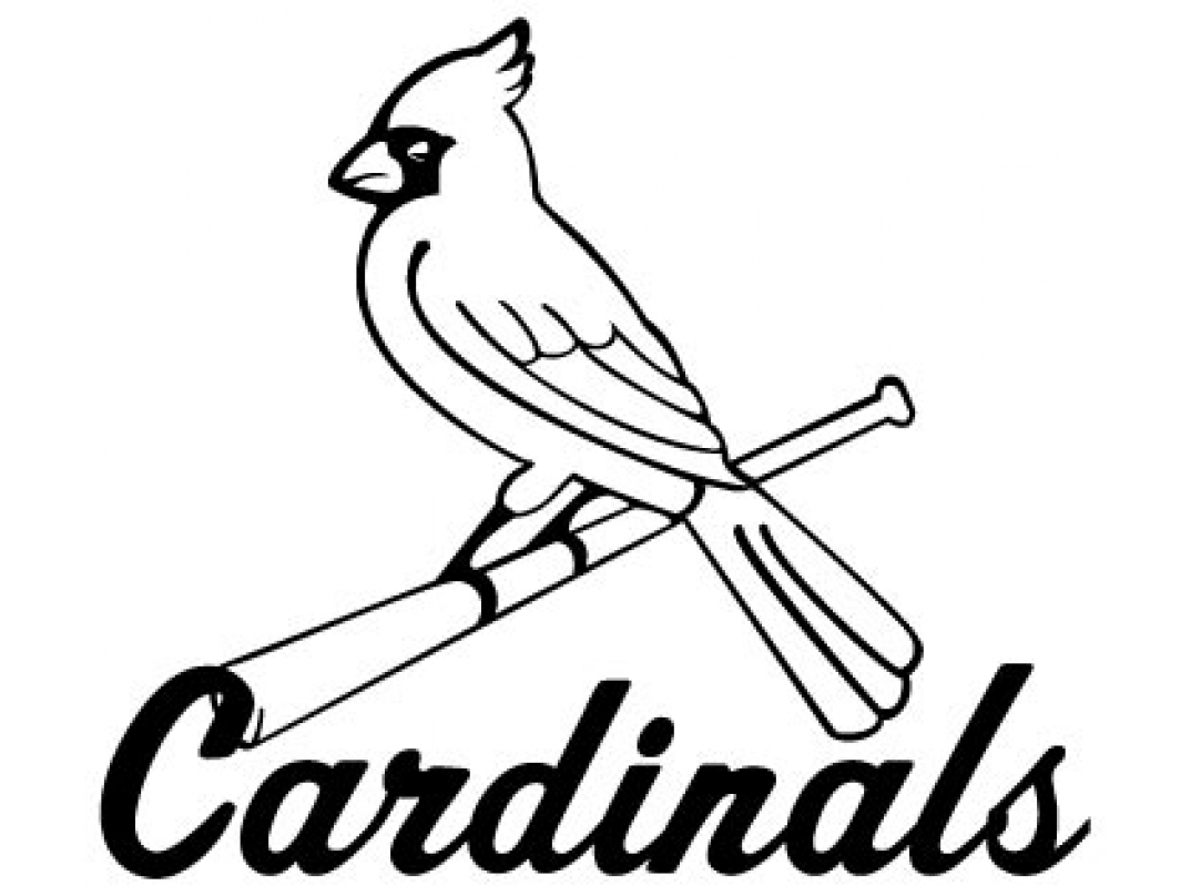 Yadier molina coloring pages coloring coloring pages for St louis cardinals logo coloring pages