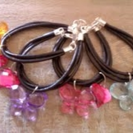 FRIENDSHIP BRACELET! GENUINE BLACK LEATHER, FREE SHIPPING