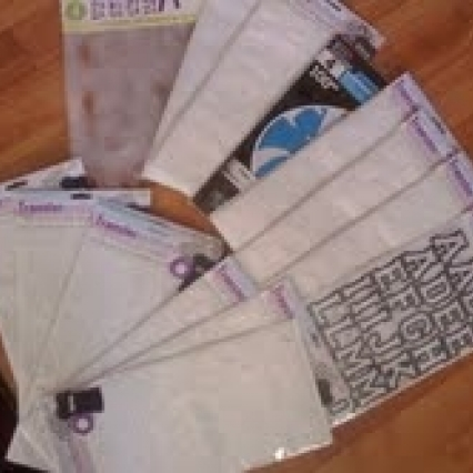 HUGE LOT OF IRON ON TRANSFER LETTER'S, BRAND NEW, SEALED & FRESH, FREE SHIPPING