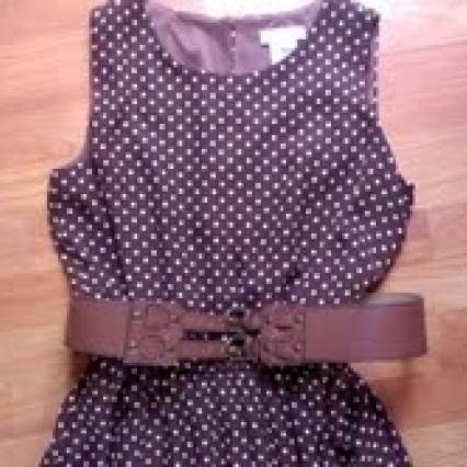 Ann taylor dress with belt, size 12