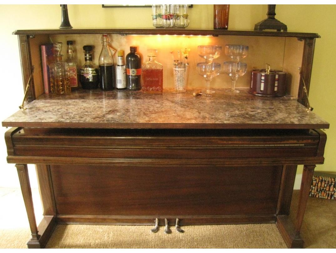 Repurposed Piano Wet Bar