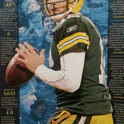 2011 Aaron Rodgers MVP Poster